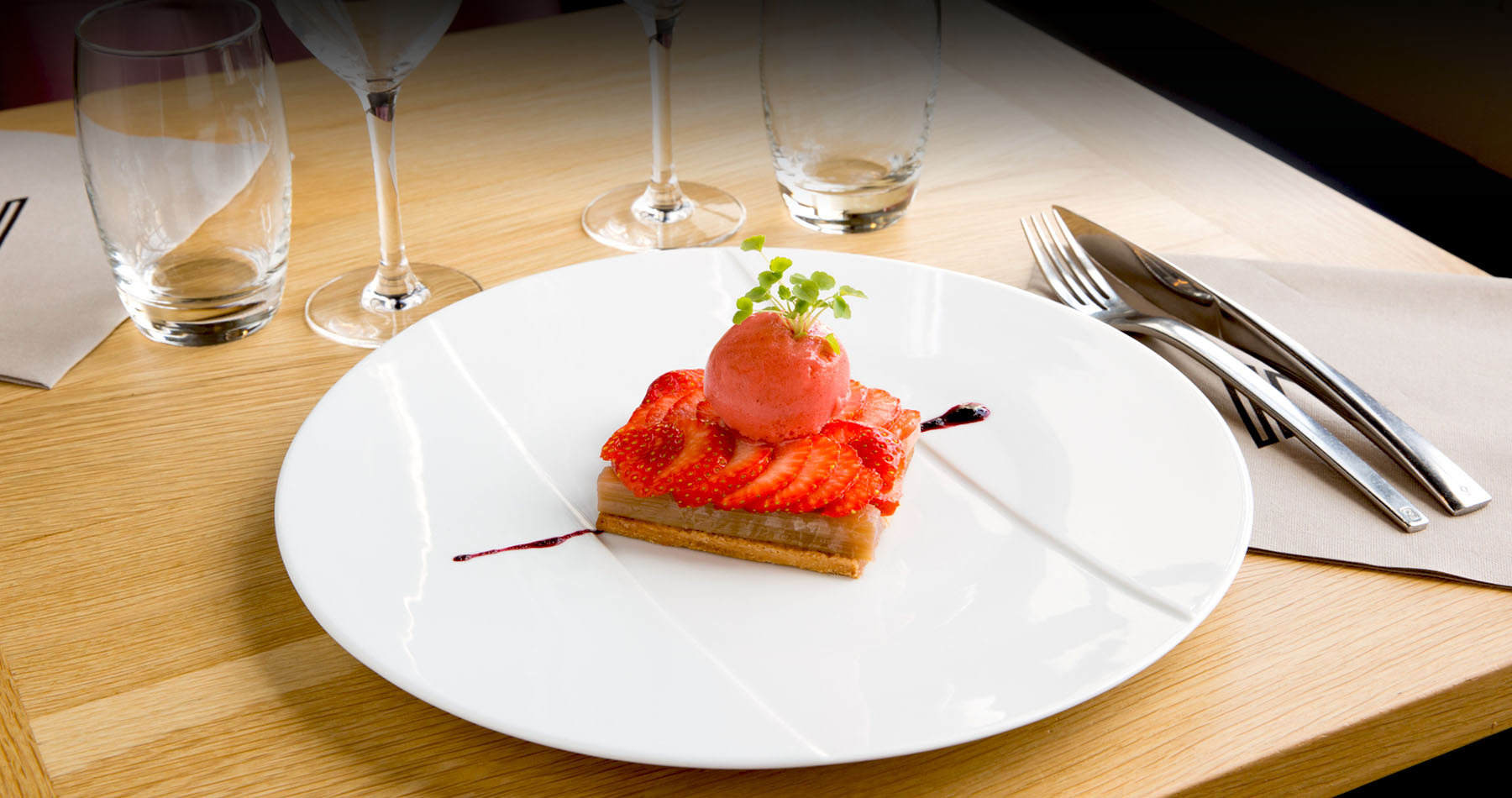 Dessert du restaurant Le Palatium Laval